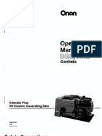 Onan Emerald Plus Operators manual