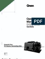 Onan Emerald Plus Operators manual
