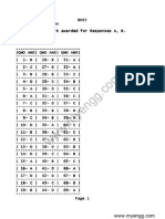 GOA CET / GCET 2014 Biology Answer Keys for SET A, B, C & D