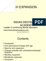 Arch Expansion 1-Ortho / orthodontic courses by Indian dental academy