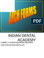 Arch Forms 1-Ortho / orthodontic courses by Indian dental academy