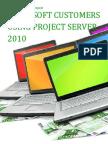 Microsoft Customers using Project Server 2010 - Sales Intelligence™ Report