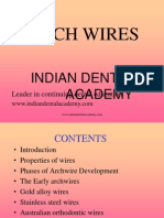 Archwires ORTHO / orthodontic courses by Indian dental academy