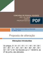 001 Concurso de Pessoal Docente Proposta Alteração DL 132 2012