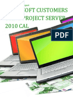 Microsoft Customers using Project Server 2010 CAL - Sales Intelligence™ Report