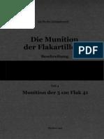 """L.Dv.4402/4"" Die Munition der Flakartillerie. Beschreibung. Teil 4"