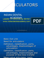 Articulators Crown &Bridge / orthodontic courses by Indian dental academy