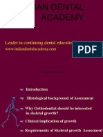 Assesment of Growth -OrTHO / orthodontic courses by Indian dental academy
