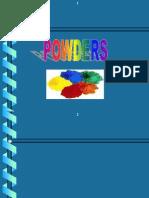 Powders,Modified, Lec 8