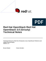 Red Hat OpenStack 3 Technical Notes en US