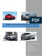 Effects of Line Extensions in the Luxury and Non-luxury Car Industry