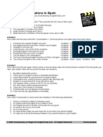Spain Class Worksheet