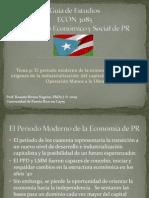 Guía de Estudios - periodo moderno de la economía de PR - del Capitalismo de Estado a Operacion Manos a la Obra