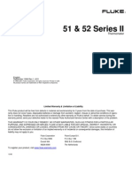 Fluke 51-52 Series II Thermometer Users Manual
