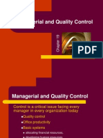 Managerial & Quality Control