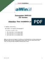 Dataupdate Installation CD 2005-03