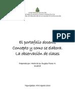 Portafolio y Observacion de Clases