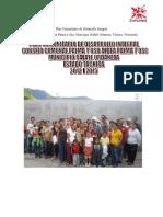 Plan Comunitario de Desarrollo Integral Aldea PALMA Y OSO