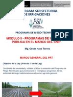 MODULO II - Programas de Inversión de Riego Tecnificado PRT 2013