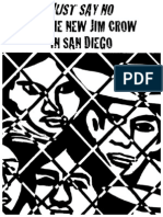 JUST SAY NO to the New Jim Crow in San Diego