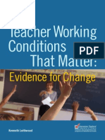 Teacher Working Conditions That Matter - Evidence for Change
