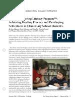 Peer Tutoring Literacy Program