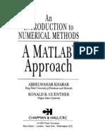 Numerical Methods Using Matlab Pdf