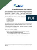 Importacion de Información a Aspel-SAE 5.0