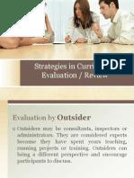 Strategies in Curriculum Evaluation