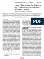 A Study on Lecturers Perceptions on Teaching Functions Among the Lecturers of Community Colleges Yemen