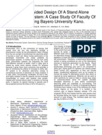 Computer Aided Design of a Stand Alone Photovoltaic System a Case Study of Faculty of Engineering Bayero University Kano.