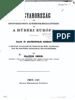 Hajnik Imre - Magyarország az Árpád-királyoktól az Ősiségnek megállapitásáig 1867.