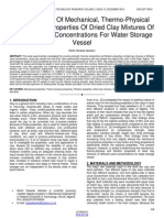 Determination of Mechanical Thermo Physical and Filtration Properties of Dried Clay Mixtures of Different Sand Concentrations for Water Storage Vessel