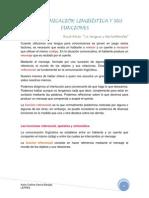 122357810 La Comunicacion Linguistica y Sus Funciones