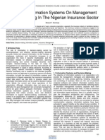 Impact of Information Systems on Management Decision Making in the Nigerian Insurance Sector