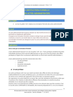 1.1.4 Motivation Formelle Des Actes Administratifs