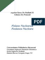 Referat Fizica Fisiunea&Fuzinea Nucleara