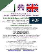 2014 sac celebrity infinity british isles flyer with irish countryside and british flag