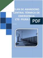 Plan de Abandono CTE-Piura 80 MW