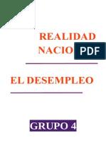 El Desempleo Realidad Nacional 2014-Final