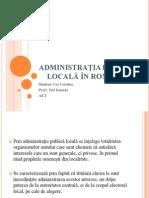 Administraţia Publică Locală În România