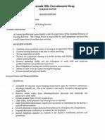 All Care Staff Job Descriptions - GHCH