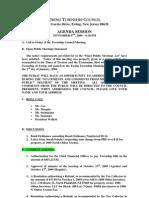 2009-11-09 Council Agenda Session