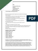 Nomenclatura Del(Cobre, Aluminio, y Acero)