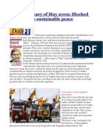5th Anniversary of May 2009 Blocked Transition to Sustainable Peace