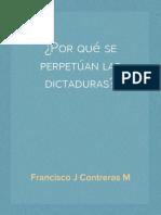 ¿Por qué se perpetúan las dictaduras? (Primera parte)