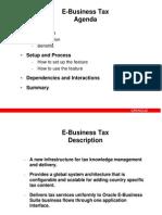 EBS Tax Setup