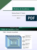 Aula3-TQM e Modelos de Excelência