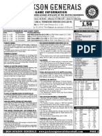 5.10.14 Game Notes vs Tennessee