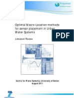 D3.5.1 - Optimal Macro-Location Methods for Sensor Placement in Urban Water Systems